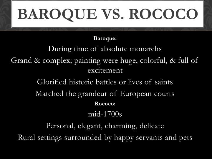 Ppt scientific revolution a new way of thinking for Baroque vs rococo