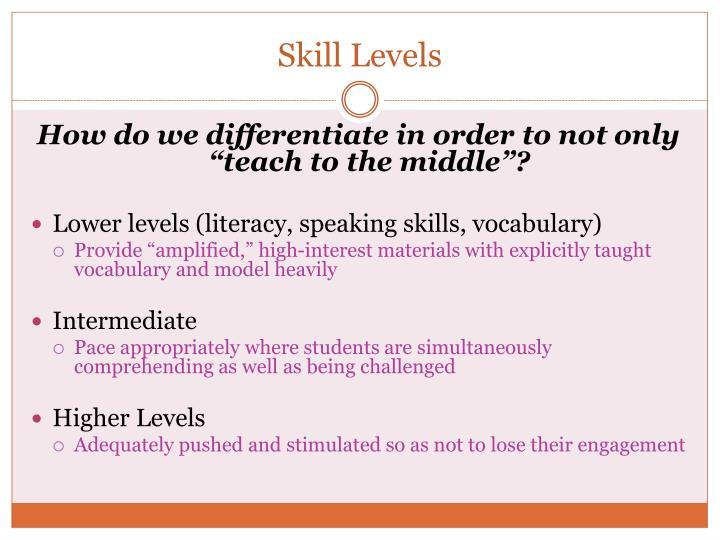 Skill Levels