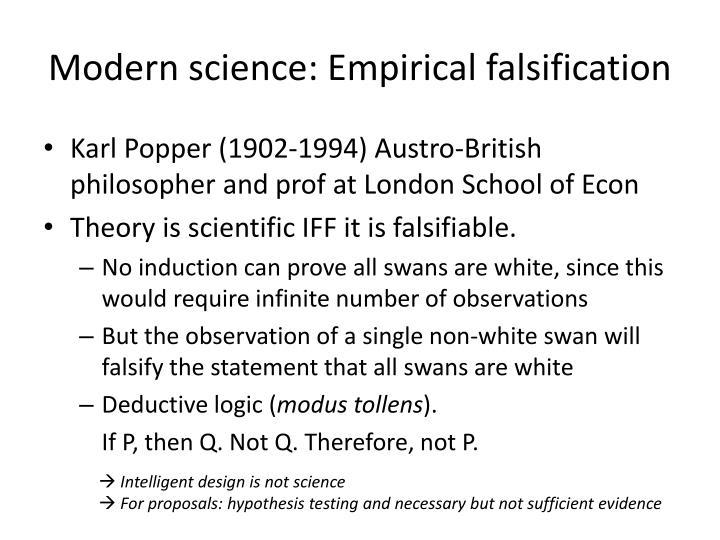 Modern science: Empirical falsification