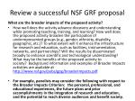 review a successful nsf grf proposal1