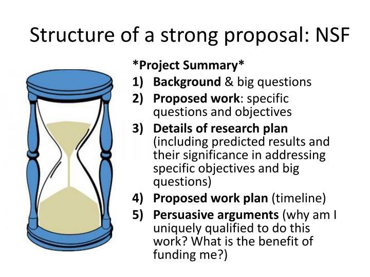 Structure of a strong proposal: NSF