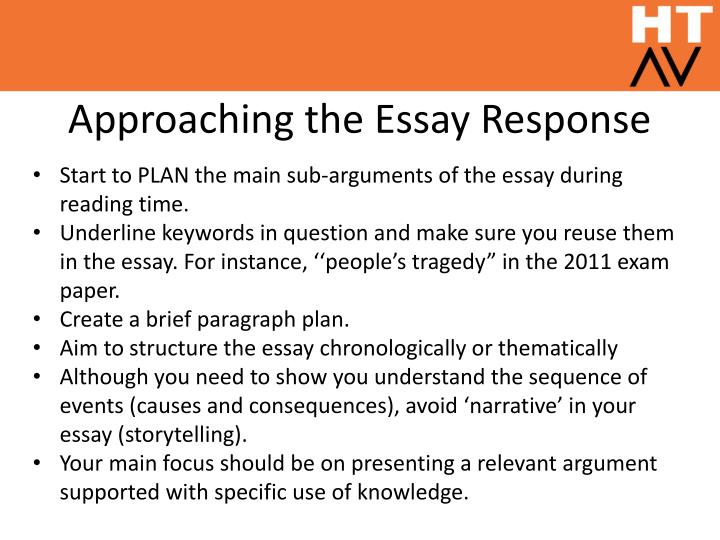 Approaching the essay response