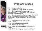 program torsdag1