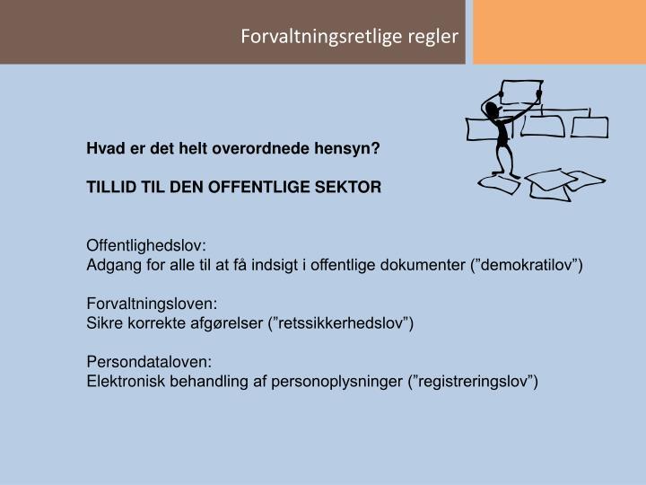 Forvaltningsretlige regler