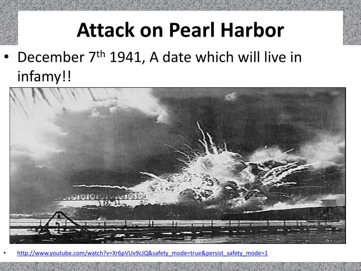 The significance of Pearl Harbour to America and the second world war