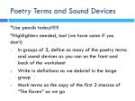 poetry terms and sound devices