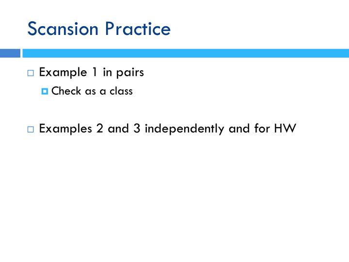 Scansion Practice