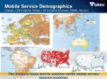 mobile service demographics orange 2g footprint yellow 3g footprint sources gsma verizon