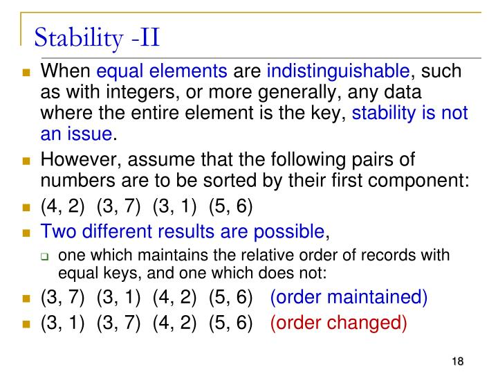 Stability -II