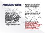 morbidity rates