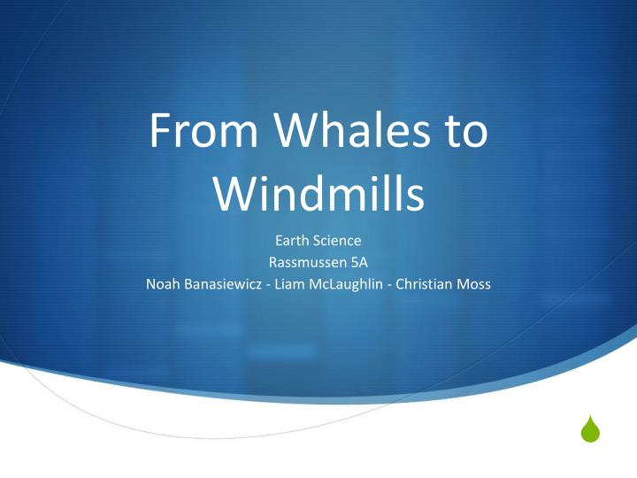 From whales to windmills