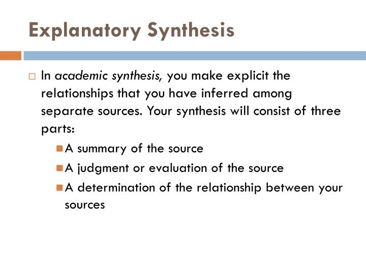 explanatory synthesis Do you yearn for the freedom to choose your topic and write about something that interests you here's your chance with these 24 explanatory essay topics.