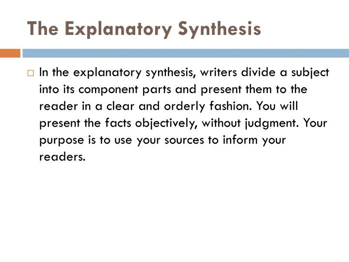 The Explanatory