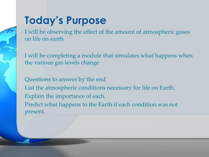 Today's Purpose