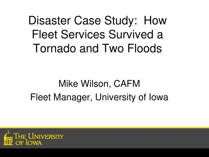 disaster case study