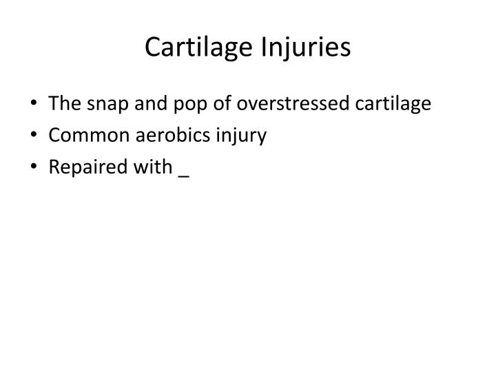 Cartilage Injuries