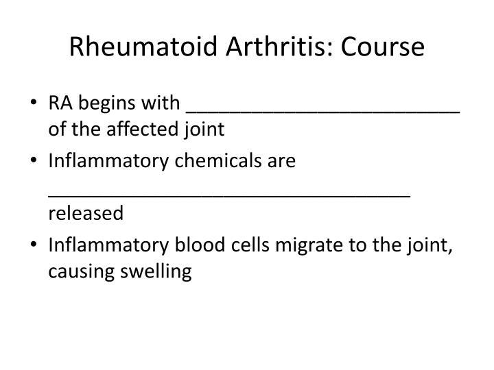 Rheumatoid Arthritis: Course