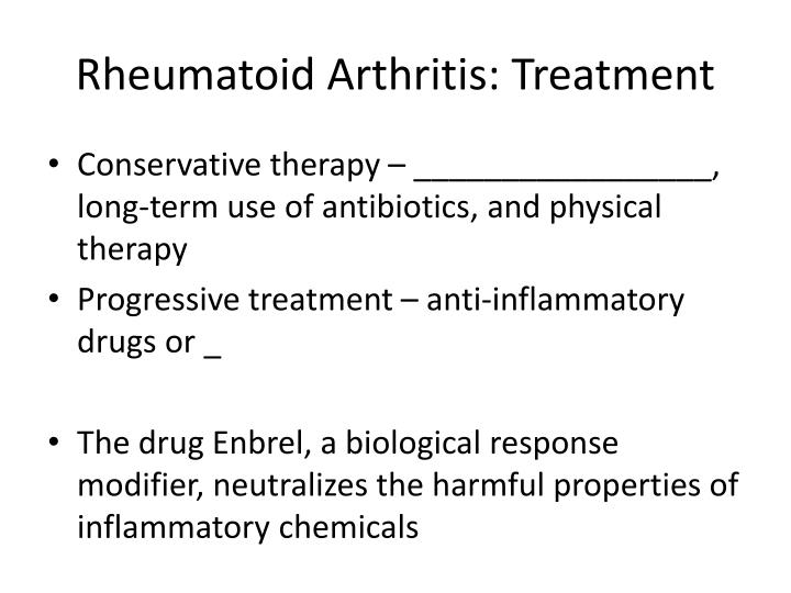 Rheumatoid Arthritis: Treatment