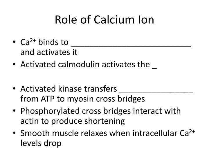 Role of Calcium Ion