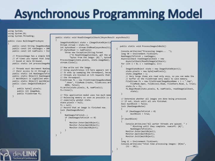 Asynchronous Programming Model