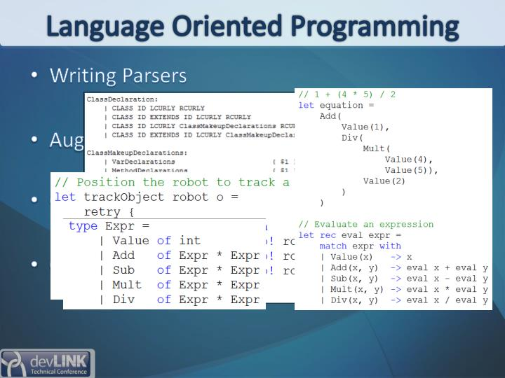 Language Oriented Programming