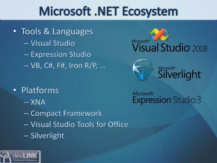 Microsoft .NET Ecosystem