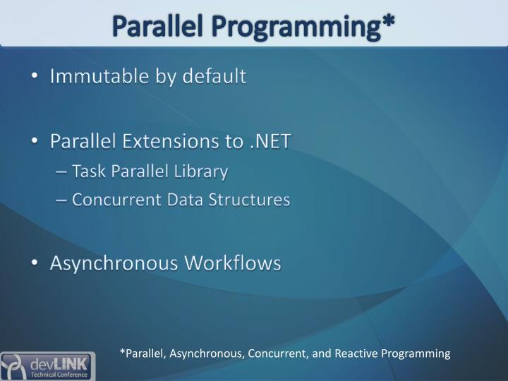Parallel Programming*