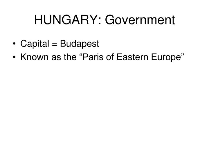 HUNGARY: Government