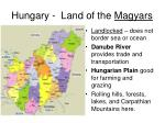 hungary land of the magyars