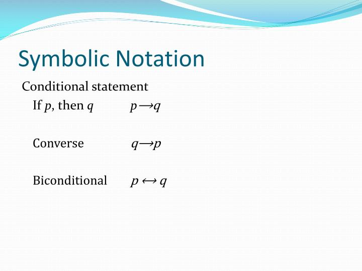 Symbolic Notation
