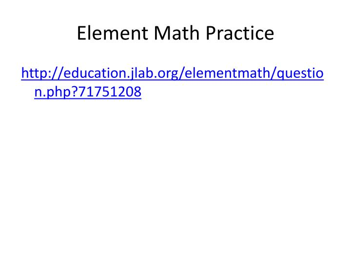 Element Math Practice
