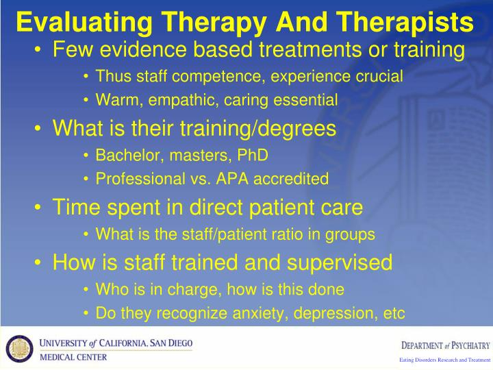 Evaluating Therapy And Therapists