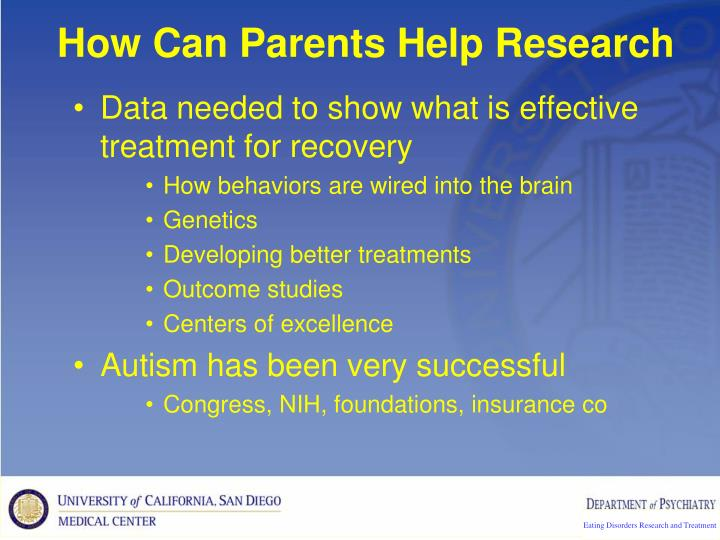 How Can Parents Help Research