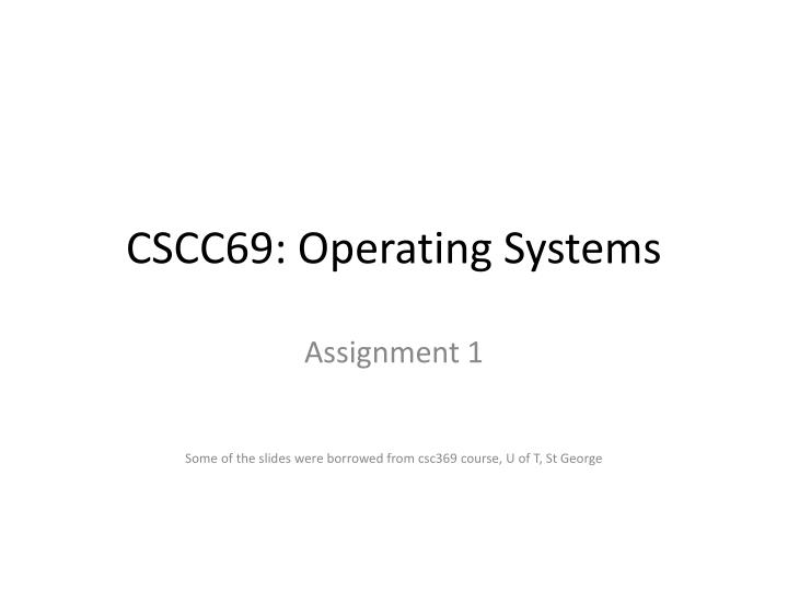 Cscc69 operating systems