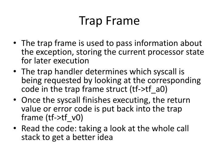 Trap Frame