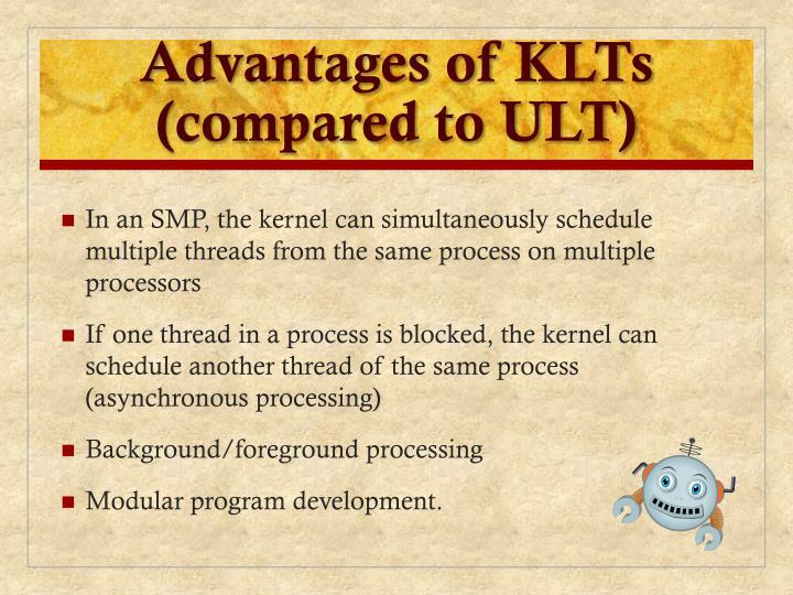 Advantages of KLTs