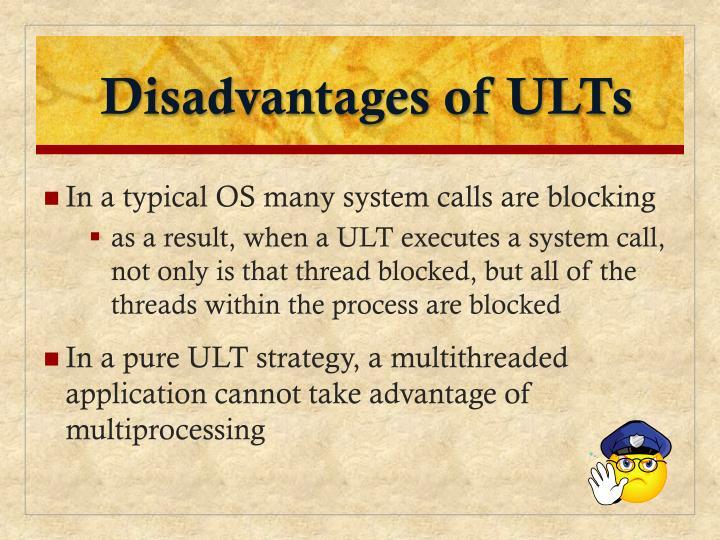 Disadvantages of ULTs