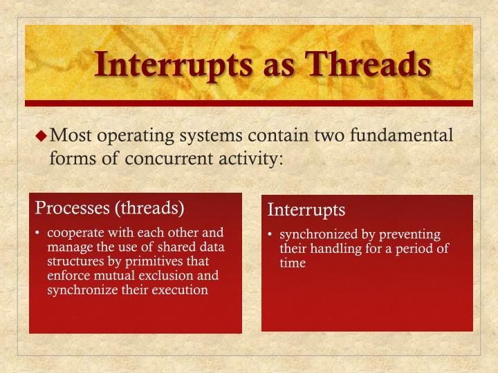 Interrupts as Threads