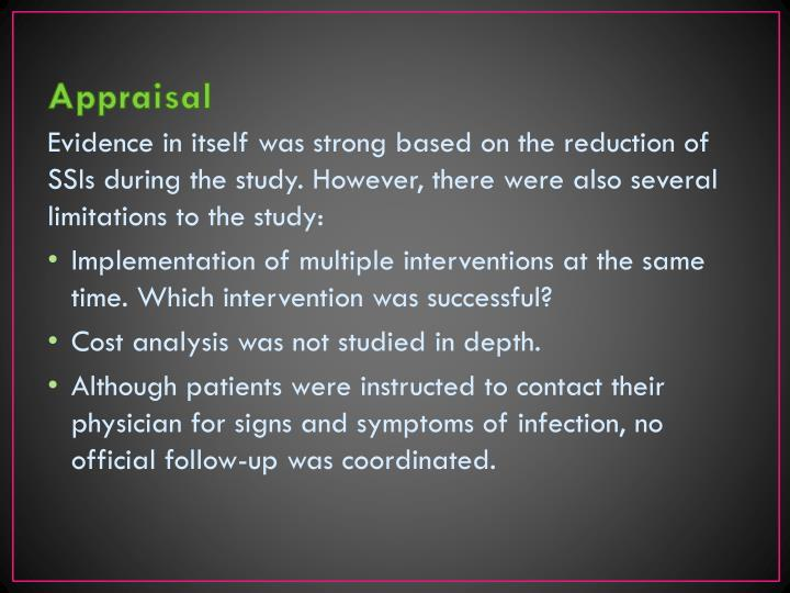 review evidence based practice of surgical Antiseptic soap, or use an alcohol-based surgical antiseptic  gynecologic practice (september 2013) committee opinion no 571: solutions for surgical preparation of the vagina  prevention of surgical site infections (ssis) and antimicrobial prophylaxis author.
