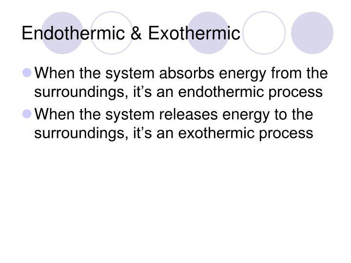 Endothermic & Exothermic