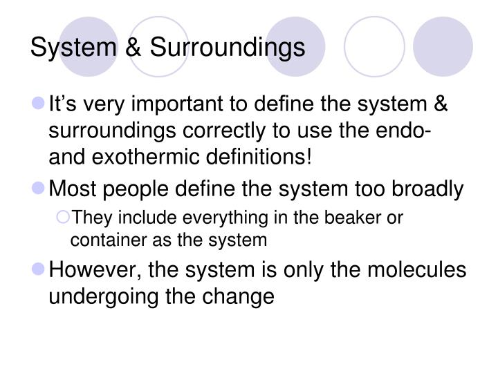 System & Surroundings