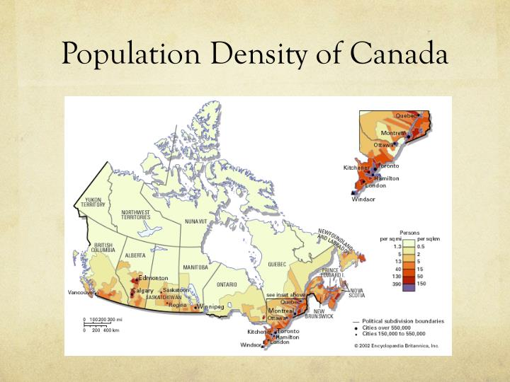 Population Density of Canada