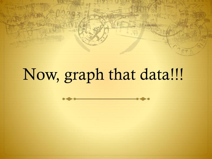 Now, graph that data!!!