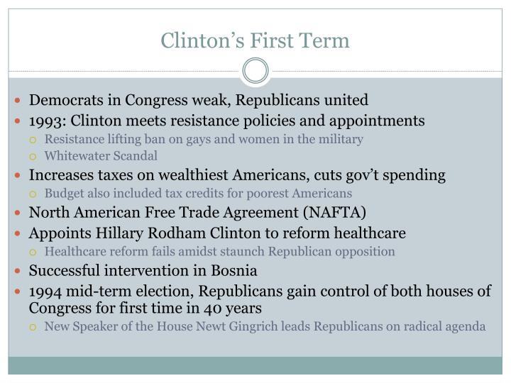 Clinton's First Term