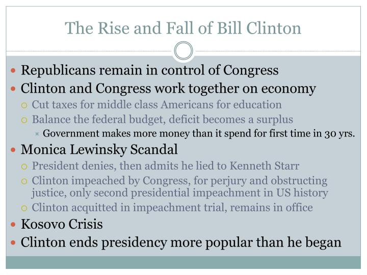 The Rise and Fall of Bill Clinton