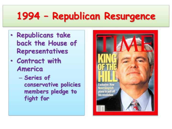 1994 – Republican Resurgence
