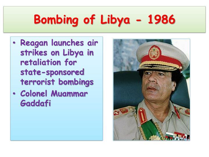 Bombing of Libya - 1986
