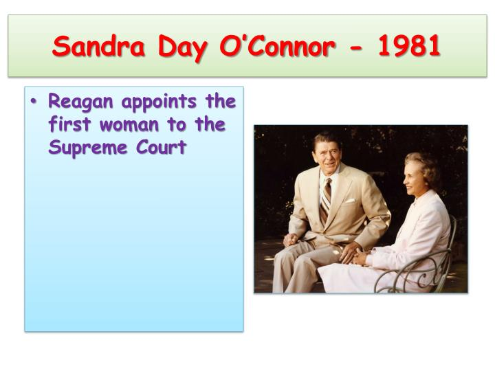 Sandra Day O'Connor - 1981