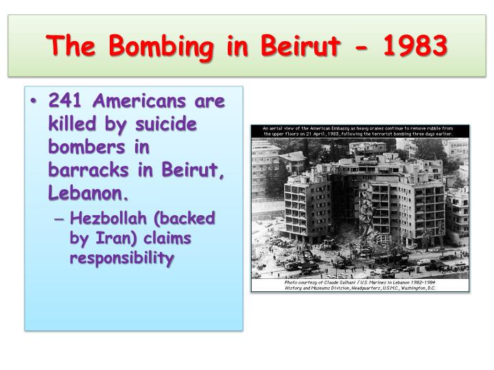 The Bombing in Beirut - 1983