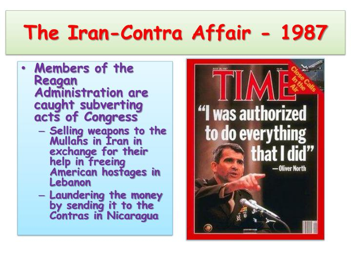 The Iran-Contra Affair - 1987